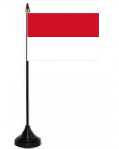 Monaco Desk / Table Flag with plastic stand and base.